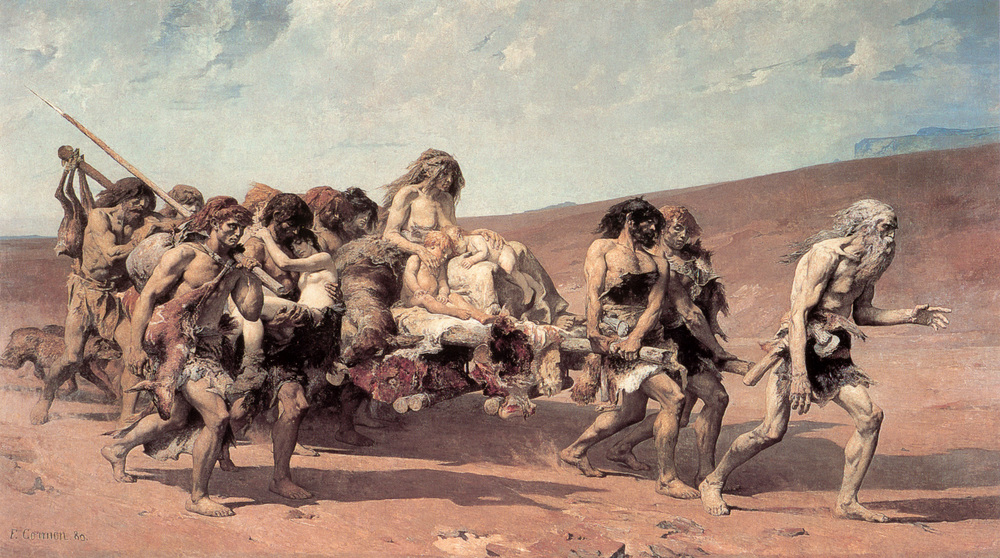 Cain's family leaving for the land of Nod, located east of Eden.
