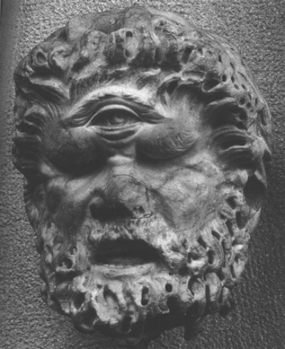A Cyclops, a son of the sea-god, Poseidon (Greek) a.k.a. Neptune (Roman).