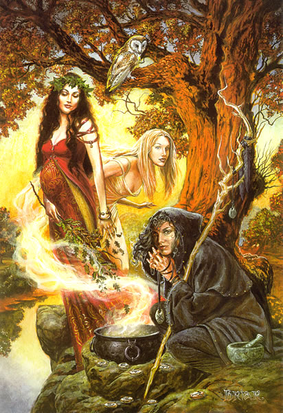 "The Unholy Trinity of the Triple Goddess: The Virgin, the Mother, and the Crone (Old ""Wise"" Woman; Hag). She is also called the Mother Goddess."