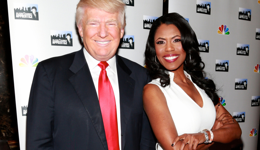 Trump with Omarosa.