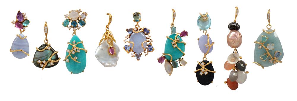 Organic Gemstone Earrings