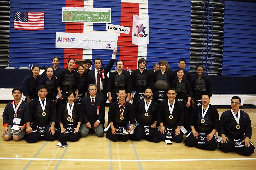 Adachi Sensei and SWKIF Men's team took 3rd place at the AUSKF Championship