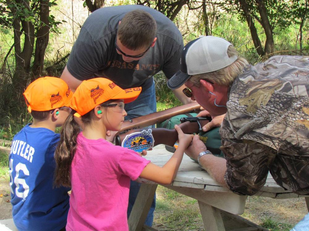 Kids Learning How Guns Work and Safety.