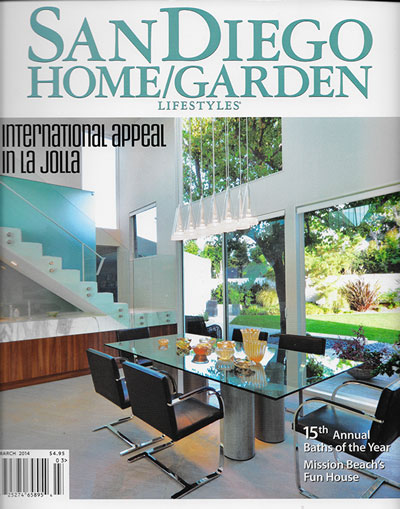 San Diego Home/Garden Lifestyles Magazine Publication   March 2014