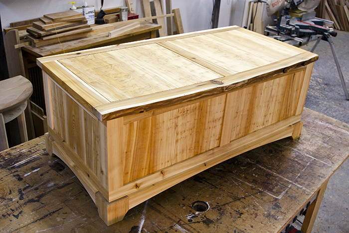 White Cedar Blanket Chest