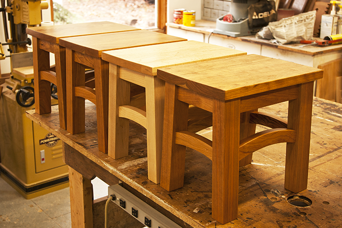 Cherry and Maple Stools