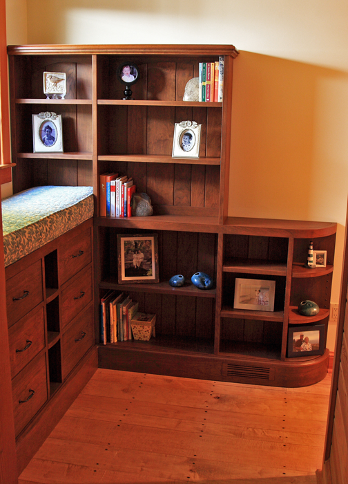 Cherry Bookcase & Drawer Casework