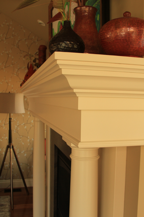 White Varnish Mantle