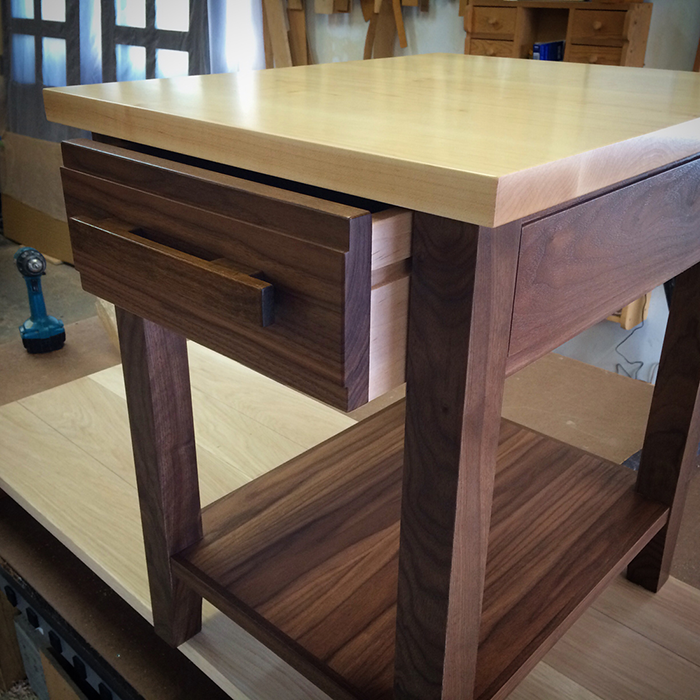 Maple & Walnut Side Table
