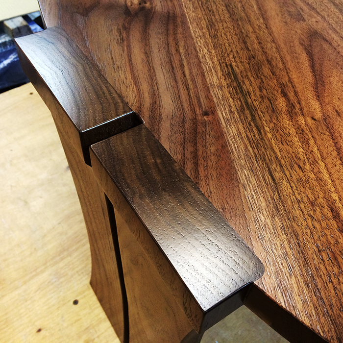 Walnut Coffee Table detail