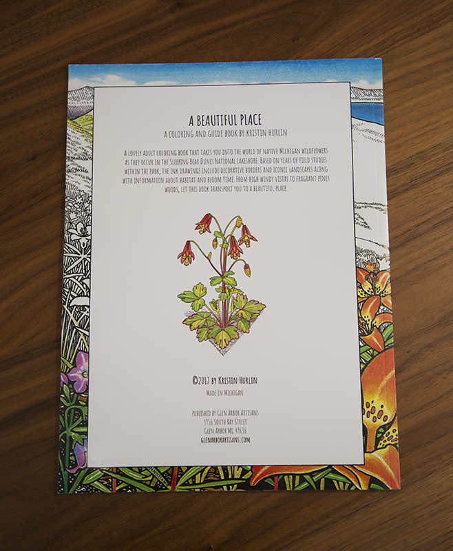 A Beautiful Place Coloring Book — Glen Arbor Artisans