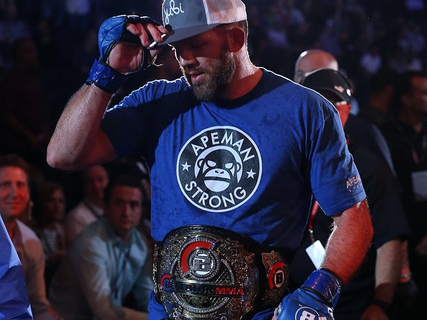 RYAN BADER -  Article on Ryan ,  Series on Ryan    Bellator Light Heavyweight Champion  24 wins - 3 losses