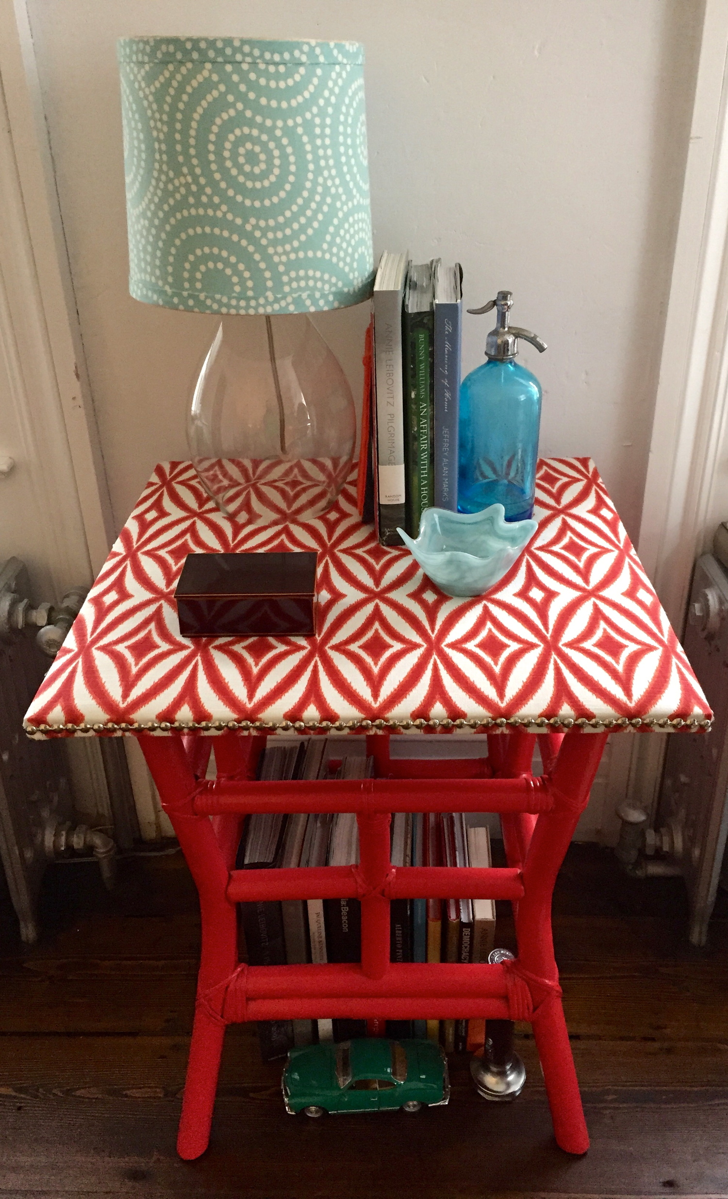 Ikat Covered Table
