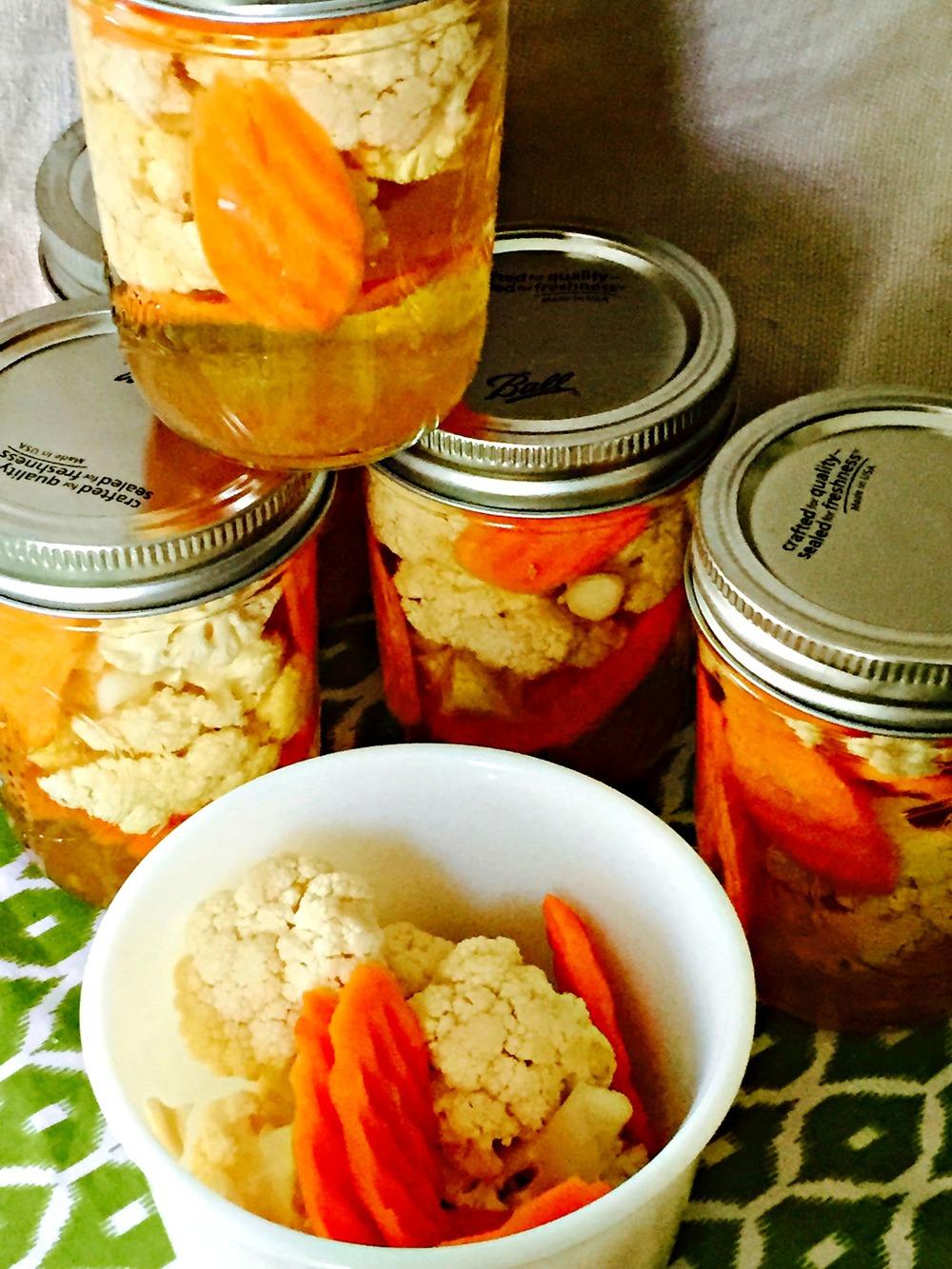 pickled cauliflower & carrots