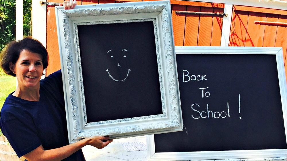 building a DIY chalkboard command center