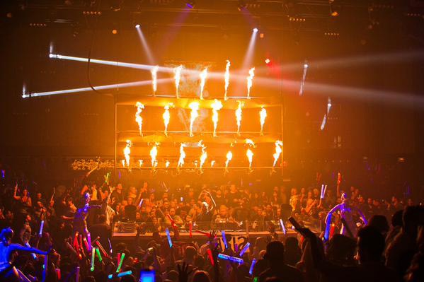 FirePixels on display at club LiFE during Steve Angello's Reflections residency.