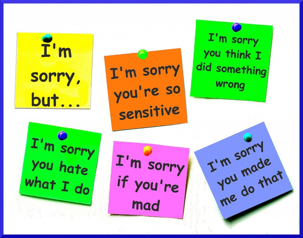 NOT WHAT YOU EXPECT FROM AN APOLOGY