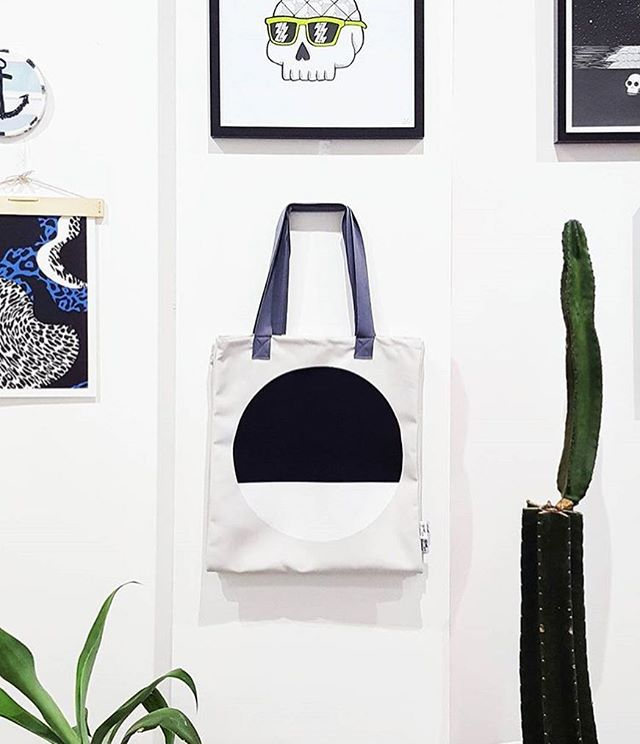 Our friends at @thetribeco.com.au know how to style a wall right ⚫️🌵🤙🏼featuring our Dot Tote available at their Darlo store and on our website #loveourstockists #jenniferandsmith