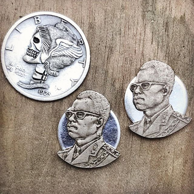 CUFF LINKS // I got a couple likuta coins from the Congo dating to the late 60s. The portrait of Mobutu Sese Seko is too great to not use.  I've got other cuff link ideas like this, what do y'all think? . . . #coinart #handmadejewelry #frenchcuffs #cufflinks #silverpiston #hobonickel #styleformiles #atlantamade #americanattitude