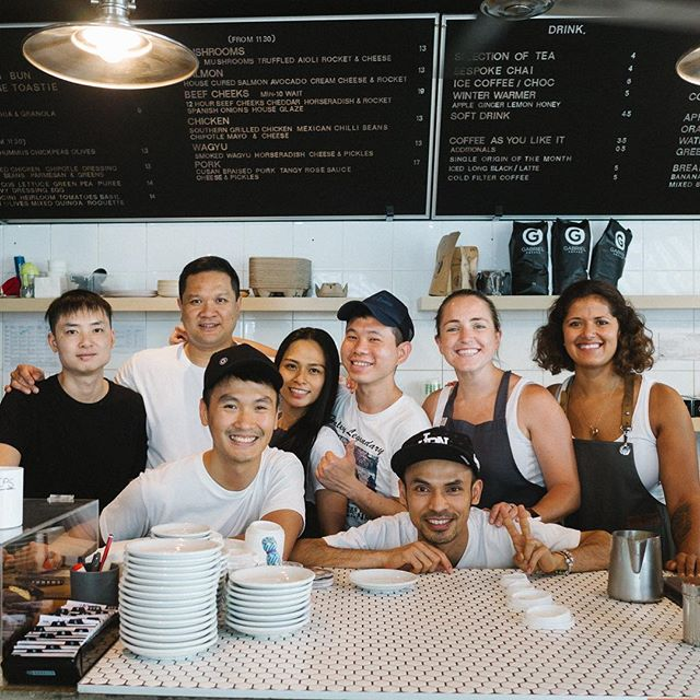 Aaaand that's 2017! From all of us at JoMo, have a great night welcoming 2018 - we hope next year will be a good one for you.  P.S. You can start next year with a good coffee right here, we open 8-12 tomorrow for coffee! . . . #johnmontagu #team #family #2018