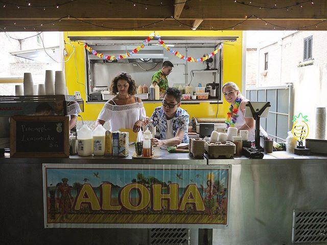 Aloha! Mahalo! Come join us at our Hawaiian Holiday food van, now officially open for Teriyaki Bacon, Mahi Mahi, Spam, Cheeseburgers... . . #JoMohana #johnmontagu #woolloomooloo #popup
