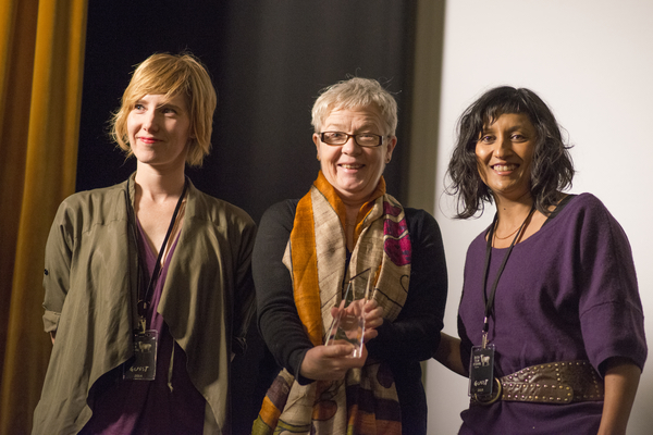 Congrats to Steph Green, Ruth McCabe & Tamara Anghie who accepted the award Best Breakthrough Feature for Run and Jump.