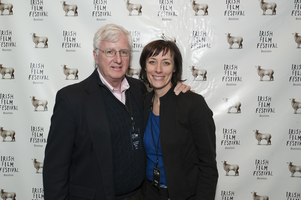Steve Greeley,  Executive Director of The  American Ireland Fund with Dawn Morrissey
