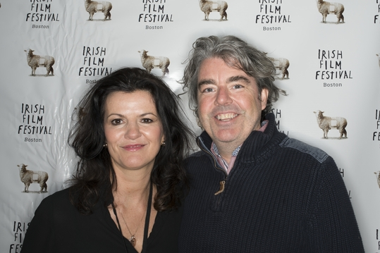 Actress Deirdre O'Kane and Director Stephen Bradley before the screening of   NOBLE