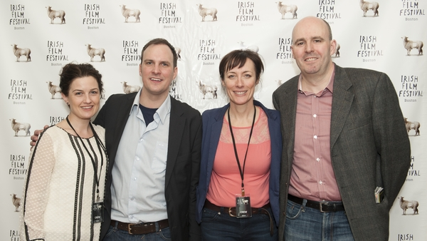Siobhan Fanning, Director Alex Fegan, Dawn Morrissey & Kevin Mulchahy before the screening of  The Irish Pub Film .