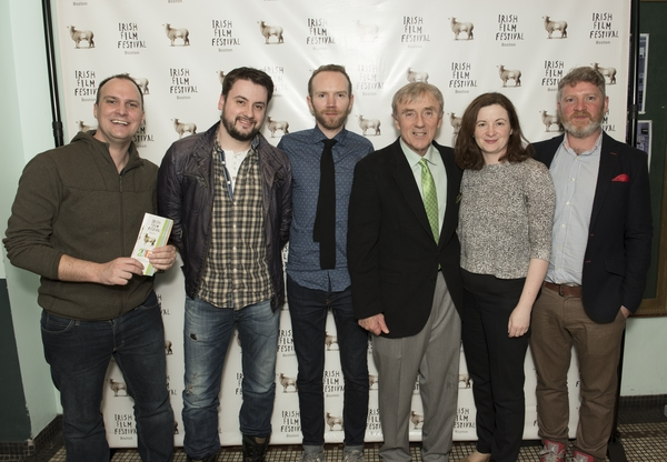 "Alderman At Large John M.""Jack"" Connolly and Irish Vice Consulate Meg Laflan joined us for the opening of #IrishFilmFest16 with our award winning film makers"