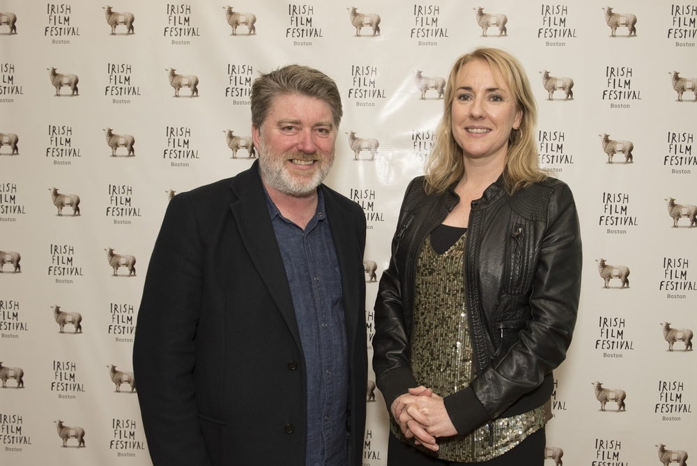 Pat Shortt and Consul-General Fionnuala Quinlan