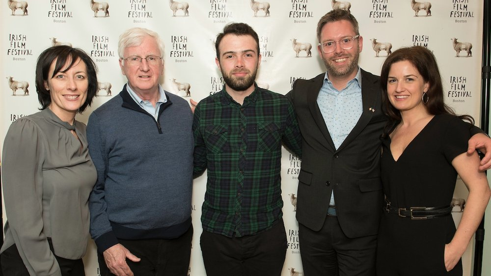 Dawn Morrisey (Director, Irish Film Festival, Boston); Steve Greeley (Executive Director, American Ireland Fund); Eamonn Murphy (Director,  Lost Memories) ; Shane Cahill (Deputy Consulate General); Siobhan Fanning (Producer, Irish Film Festival, Boston)