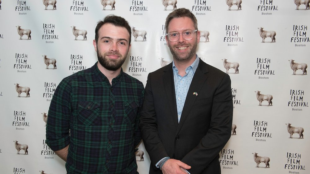 Eamonn Murphy, Director,  Lost Memories  (Director's Choice Short Award Winner 2018) and Shane Cahill, Deputy Consulate General of Ireland.