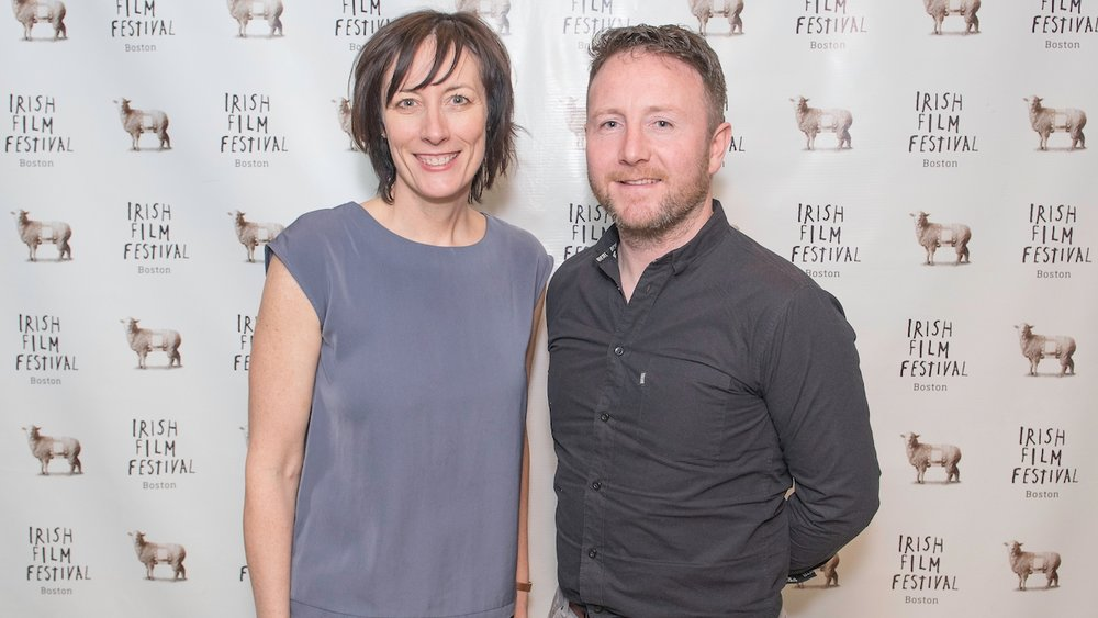 Dawn Morrissey  (Director, Irish Film Festival, Boston) and Seán Ó Cualáin (Director, In the Shadow of the Glen)
