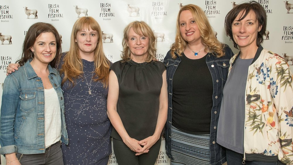Siobhan Fanning, Carrie Drizik, Emer Reynolds (Director,  The Farthest ), Jen Myronuk and Dawn Morrissey