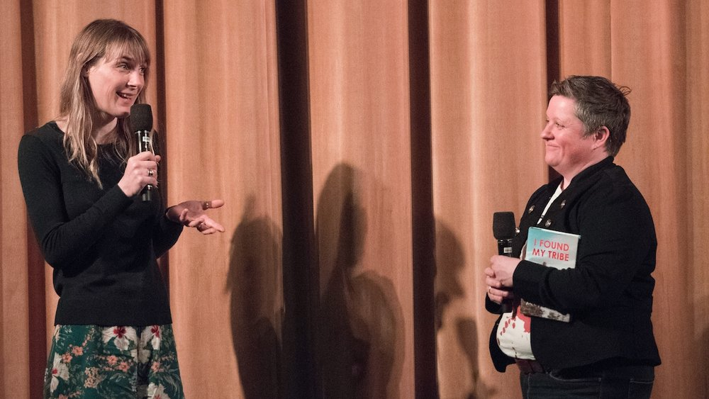 Q&A following screening of  It's Not Yet Dark:  Ruth Fitzmaurice, Author,  I Found My Tribe,  and Colette O'Neill, ALS Therapy Development Institute.