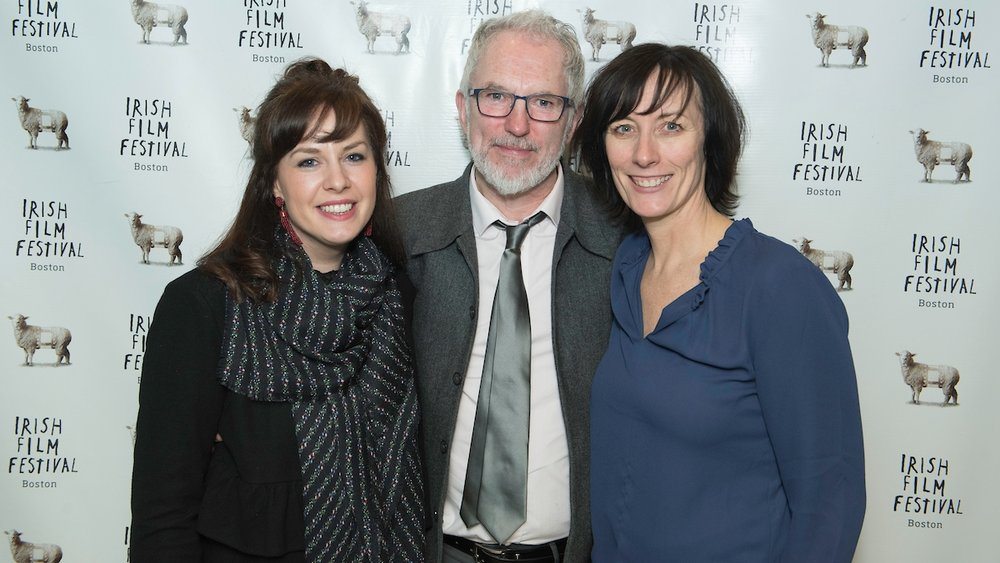 Edel Fox (Producer,  Noel Hill: Broken Dream ); Noel Hill; Dawn Morrissey (Irish Film Festival, Boston)