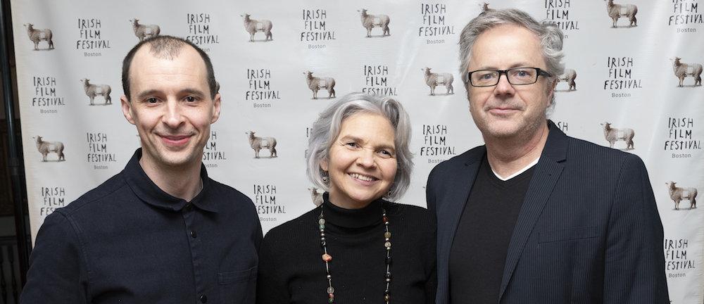 The MAZE crew: Actor Tom Vaughan-Lawlor, Producer Jane Doolan and Director Stephen Burke