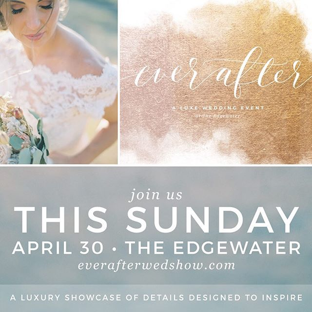 Looking forward to meeting all the newly engaged couples this Sunday!  @cherrybevents @wisconsinbride @eventessentialsmadison  @theedgeh2o @everafterwedshow #wisconsinwedding #madison #engaged #everafterwedshow