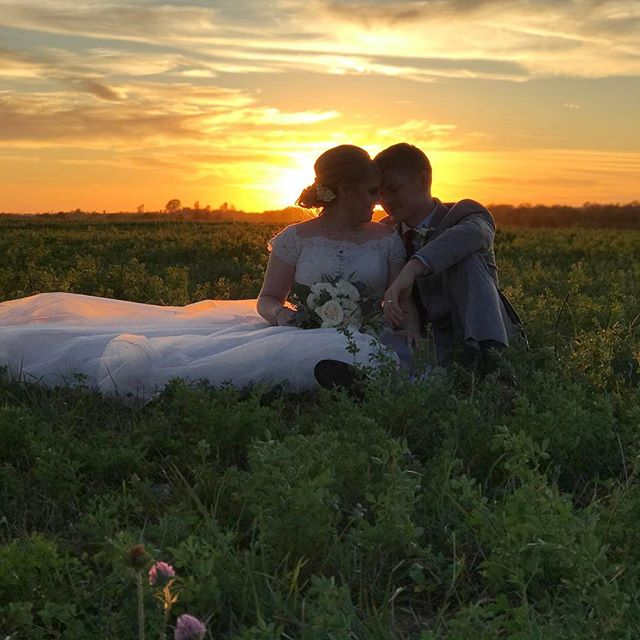 When one of your team members gets hitched and we get the most perfect sunset...ahhhh!!!! Best day ever!  Congrats Nate and Miranda!!!! #weddingfilm #wisconsinwedding #ido #allthelove #wisconsinbride