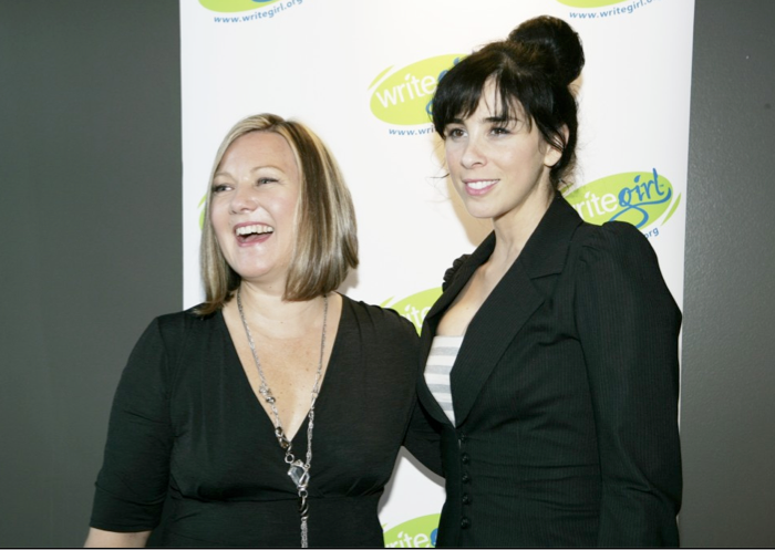 (L) Keren Taylor and (R) Sarah Silverman, 2011 Bold Ink Award Honoree