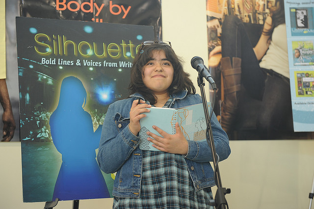 WriteGirl mentee at a Public Reading at Skylight Books in Los Angeles.