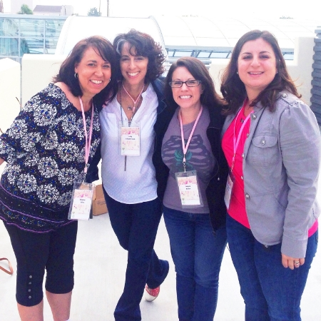 WriteGirl Curriculum Director, Kirsten Giles is pictured here on the left with WriteGirl volunteers Jody Cohan-French, Joanna Nelius and Bryanne Salazar. We thank them, as well as Heidi Carson, for traveling to San Diego for this event to help inspire girls to write!
