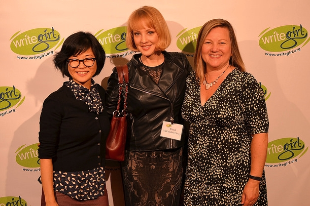KEIKO AGENA   (  GILMORE GIRLS) &   WENDI MCLENDON-COVEY   (  BRIDESMAIDS) WALK THE RED CARPET WITH  KEREN TAYLOR  AT LIGHTS, CAMERA, WRITEGIRL!