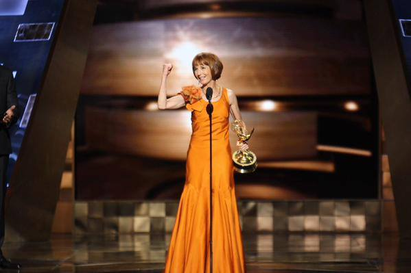 Longtime WriteGirl mentor Jane Anderson receives an Emmy for writing HBO's Olive Kitteridge