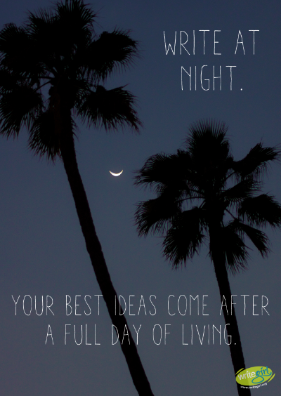 write at night