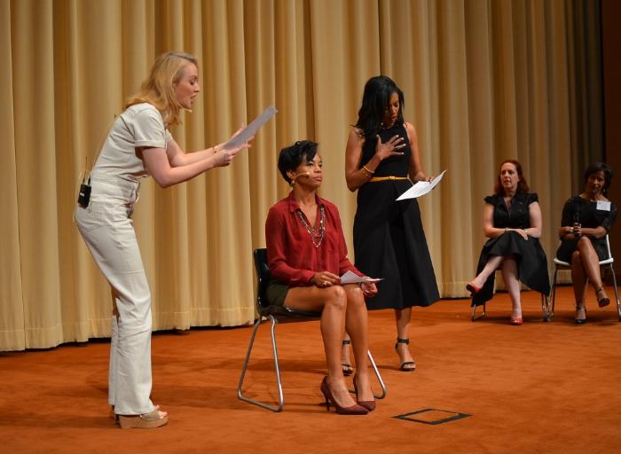 Actors performing at Lights, Camera, WriteGirl!