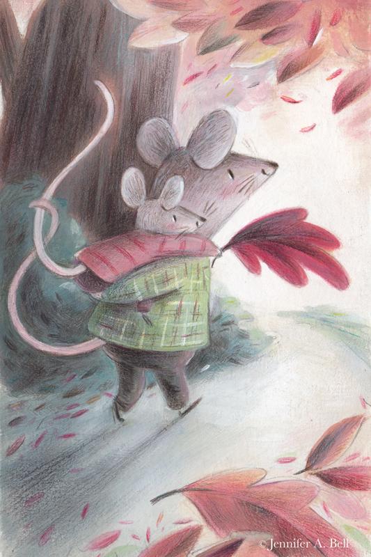 Autumn Mice. Illustration by Jennifer A. Bell
