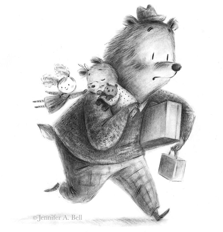 Goldilocks and the Three Bears. Illustration by Jennifer A. Bell.