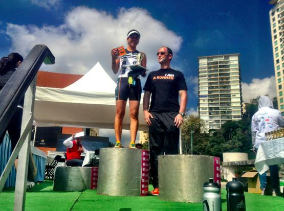 1er lugar en el duatlón de liverpool en la ciudad de México (Septiembre, 2013)
